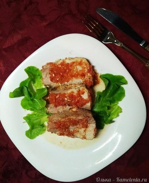 Рецепт запеченной свиной шейки в помидорном маринаде