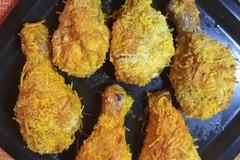 Супер хрустящие куриные голени в сырной шубке в духовке