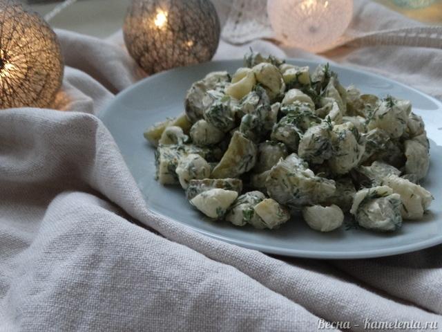 Рецепт макаронного салата с сыром и маринованными огурчиками
