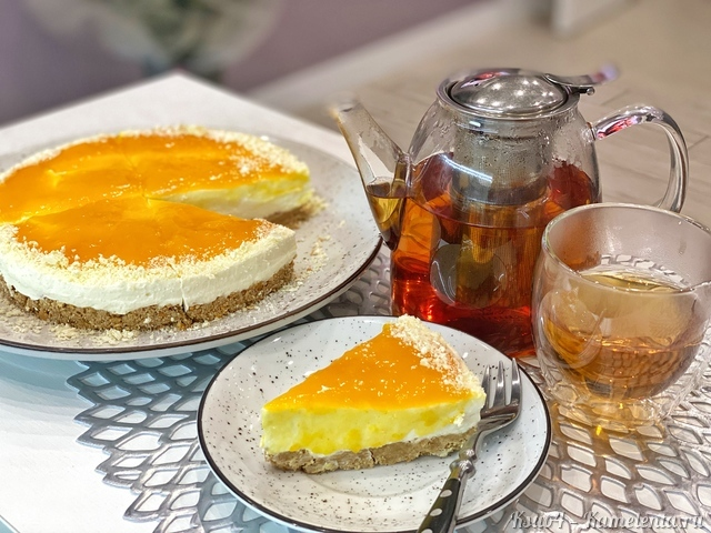 Рецепт чизкейка манго-маракуйя без выпечки