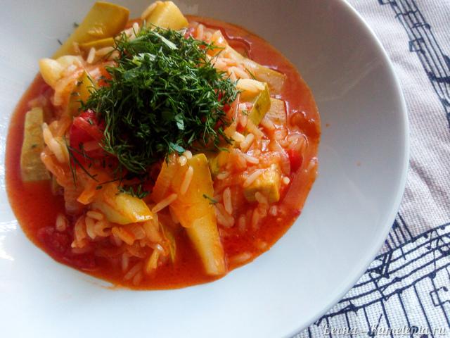 Рецепт кабачков с рисом
