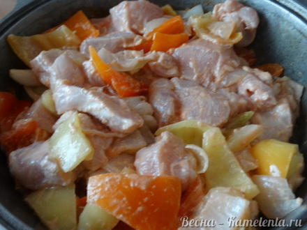 Приготовление рецепта Жаркое с курицей шаг 9