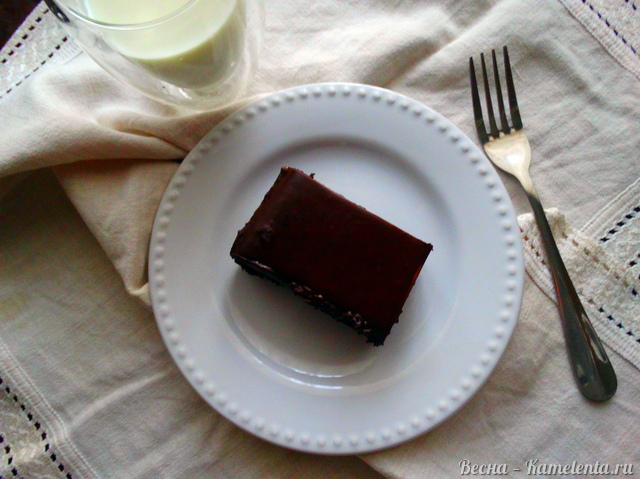 Рецепт кофейного пирога с ганашем