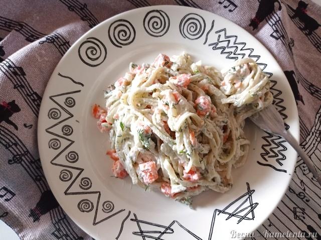 Рецепт пасты с красной рыбой и сливочным сыром