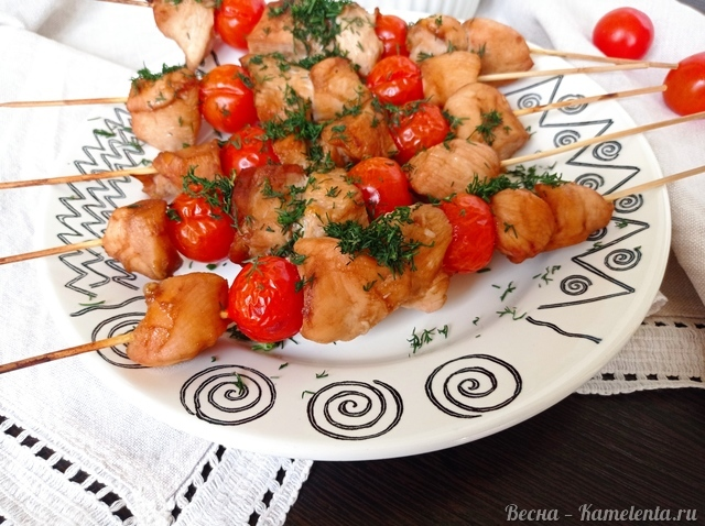 Рецепт куриных шашлычков на шпажках в духовке