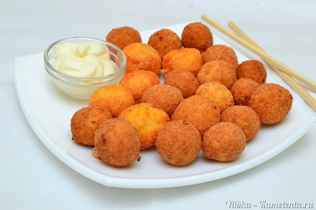 рецепт сырные шарики без муки