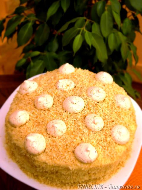 Рецепт творожного торта с заварным кремом