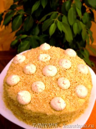 Приготовление рецепта Творожный торт с заварным кремом шаг 13