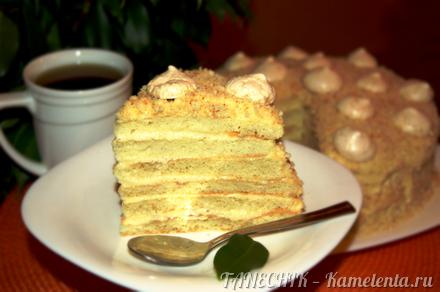 Приготовление рецепта Творожный торт с заварным кремом шаг 14