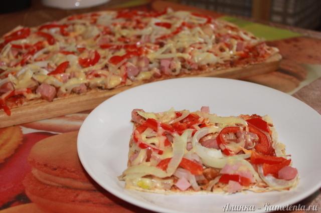 пицца из лаваша в духовке рецепты