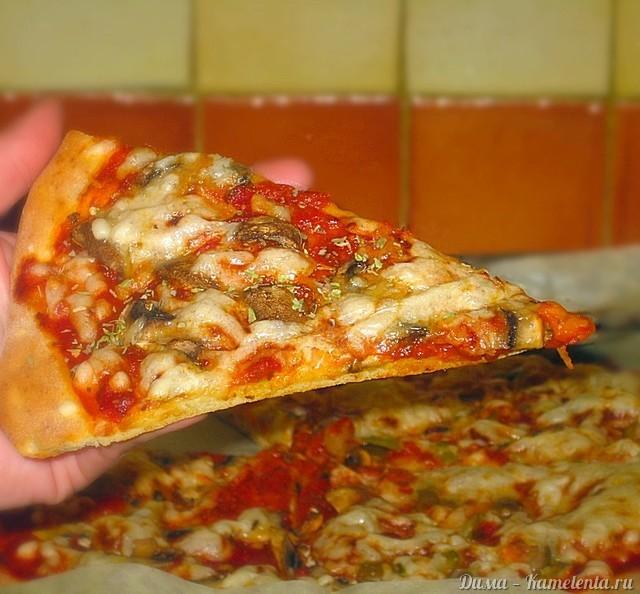 Бездрожжевое тесто для пиццы рецепт с пошагово