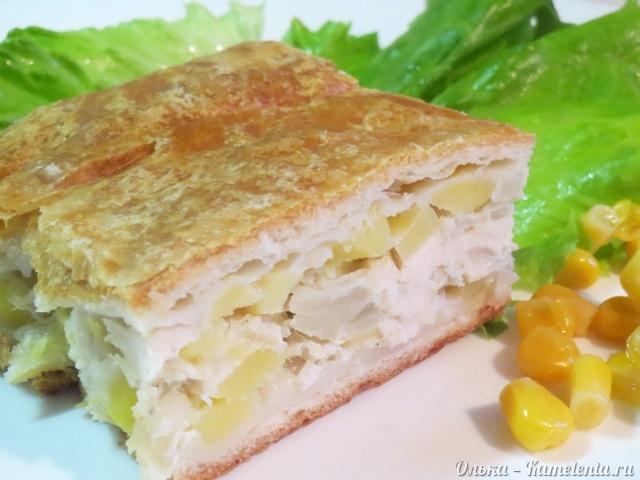 Рецепт пирога с курицей и картофелем