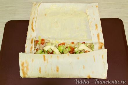 Приготовление рецепта Домашняя шаурма шаг 9