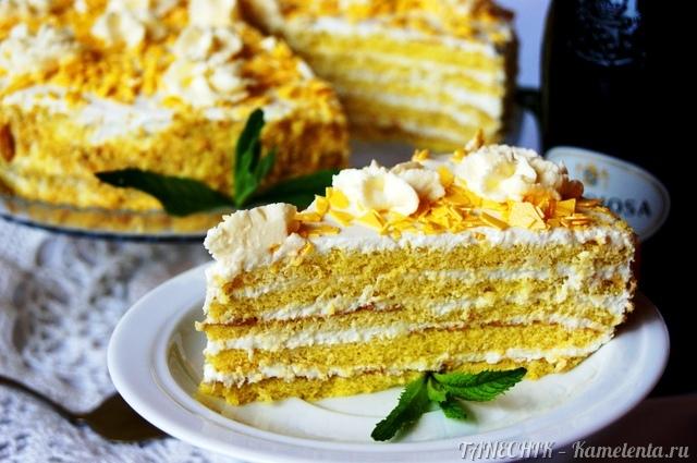 """Рецепт """"Апфельмусс - торт"""" с яблочным кремом"""