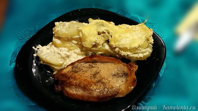 Рецепт картофеля, запеченного в сливках