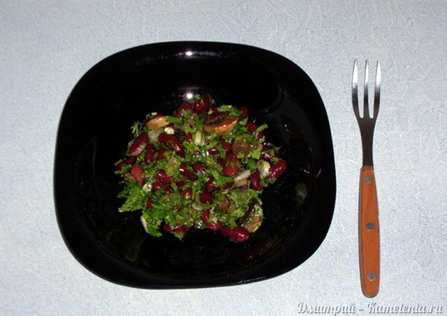 постный салат с фасолью постный рецепт