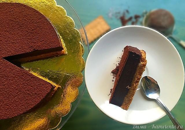 Рецепт английского шоколадного пая без выпечки