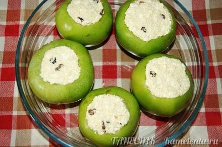 Приготовление рецепта Яблоки, запеченные с творогом шаг 5