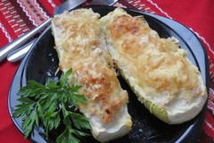 Кабачки с мясной начинкой запеченные в духовке