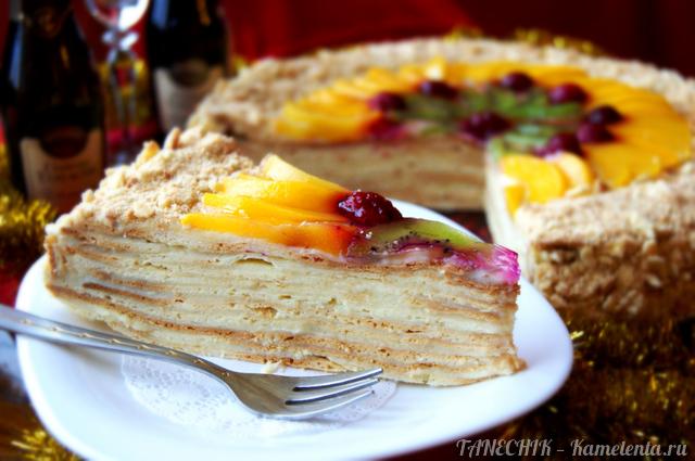 """Рецепт торта """"Наполеон"""" на сметане"""