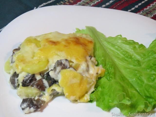 """Рецепт картофельной """"лазаньи"""" с грибами"""