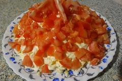 Салат с печеньем крекером