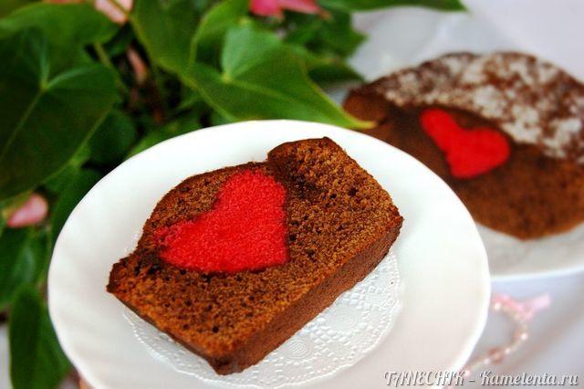 """Рецепт шоколадного кекса с """"сюрпризом"""""""