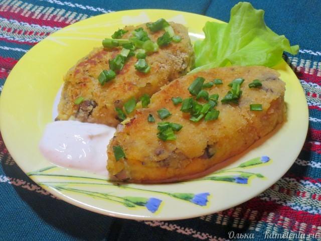 Рецепт картофельных котлет с грибами