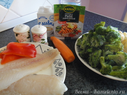рецепт рыба в духовке в сливках с