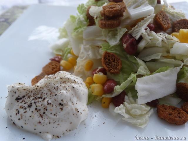 рецепт салата из огурцов и пекинской капусты