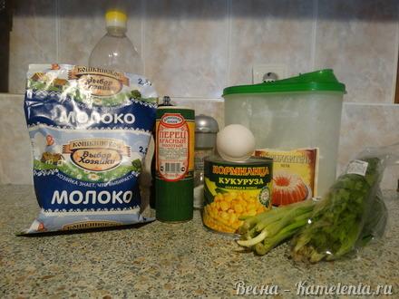Приготовление рецепта Кукурузные оладьи шаг 1