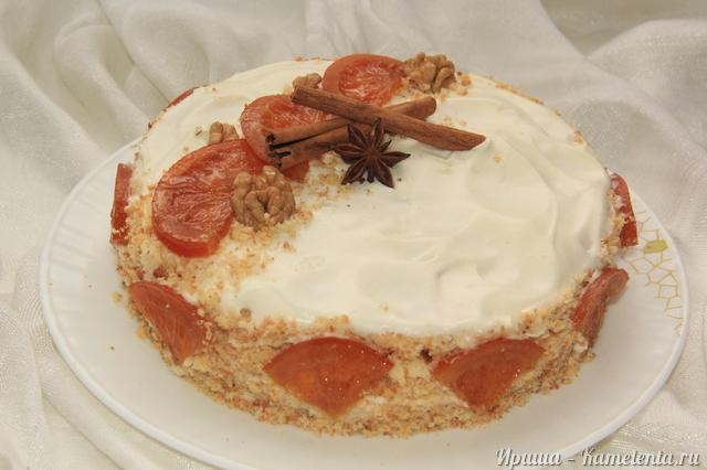 Рецепт торта с карамельными апельсинами