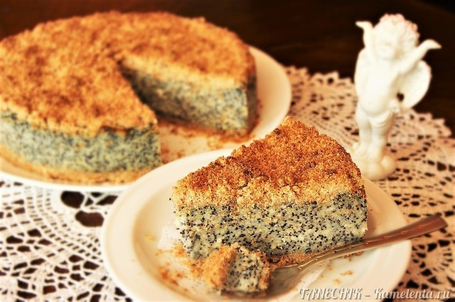 Маковый пирог рецепт с пошаговым фото