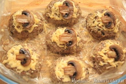 Приготовление рецепта Котлеты с грибами в рукаве шаг 10